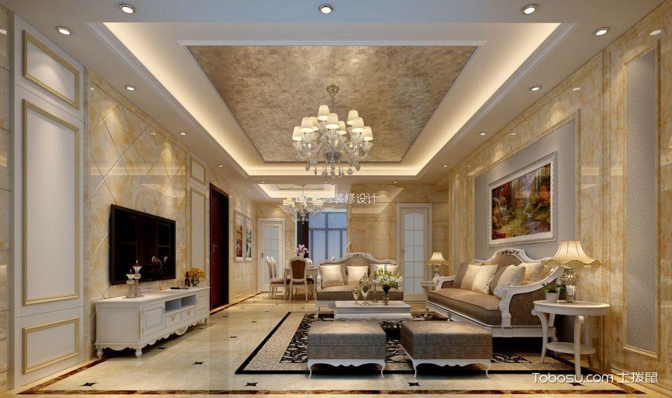 松湖雅苑130m²简欧风格四居室装修效果图