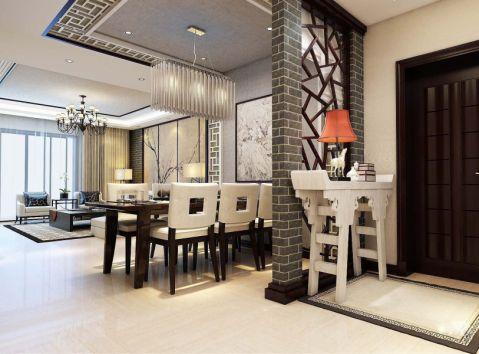 2021新中式110平米装修图片 2021新中式三居室装修设计图片