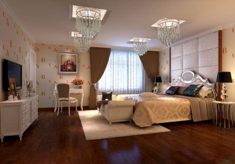 蓝湖香颂120平方欧式风格3居室装修效果图
