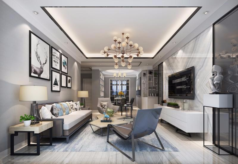 3室1卫2厅110平米现代简约风格