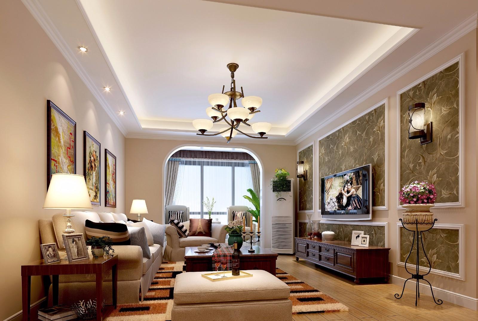 3室1卫2厅97平米美式风格