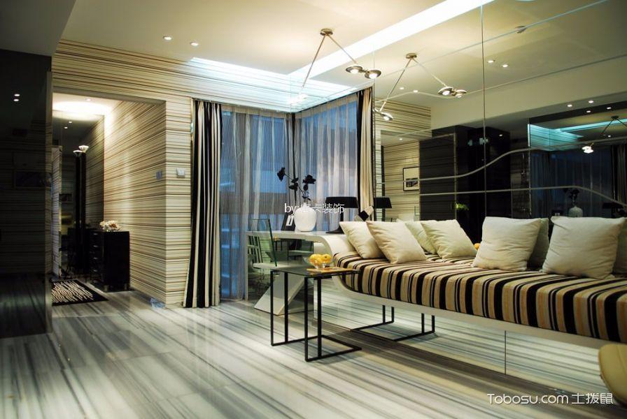 协信城立方120平米简约风格三居室装修效果图