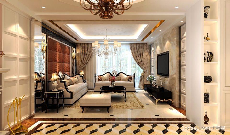 济宁太白区样品房新古典风格小户型装修效果图