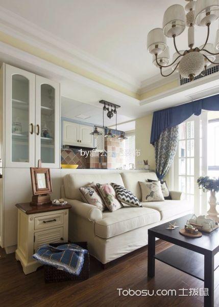 禹洲天境70平美式风格两室一厅一厨一卫