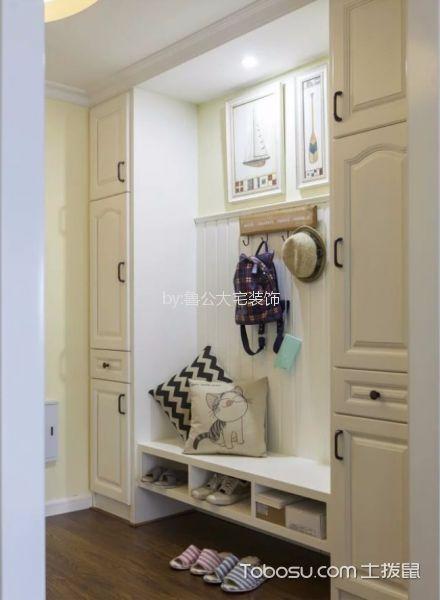 玄关白色鞋柜美式风格装修效果图