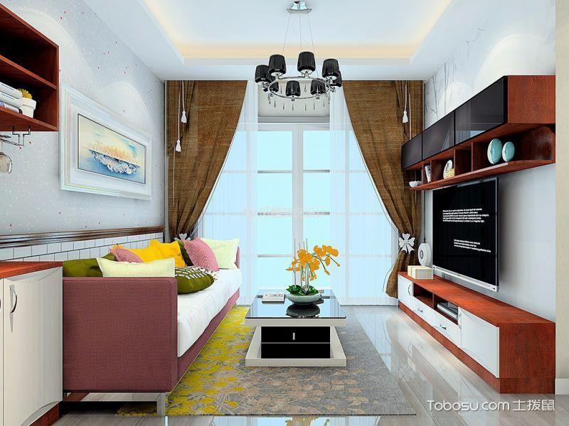凯茵花园简约风格两室一厅装修效果图
