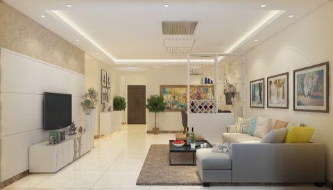 金科城120平三居室现代简约风格装修效果图