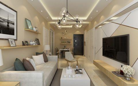 麦岛金城两居室北欧风格80平米装修效果图