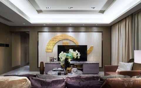 香树湾馨苑143平现代风格三居室装修效果图