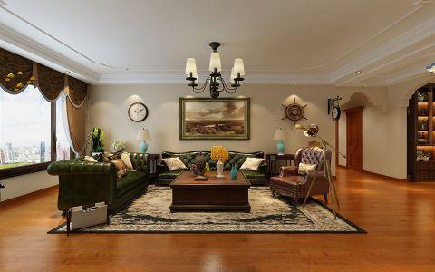 香溪庭院四居室欧式风格120平米装修效果图