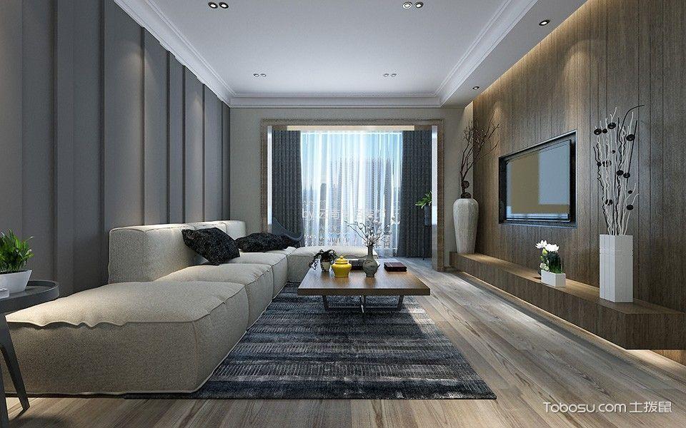 博欣盛世93平米极简三居室装修效果图