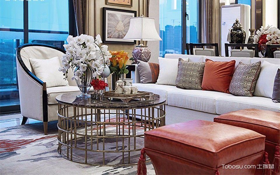 丹杨家园120平方四居室混搭风格装修效果图