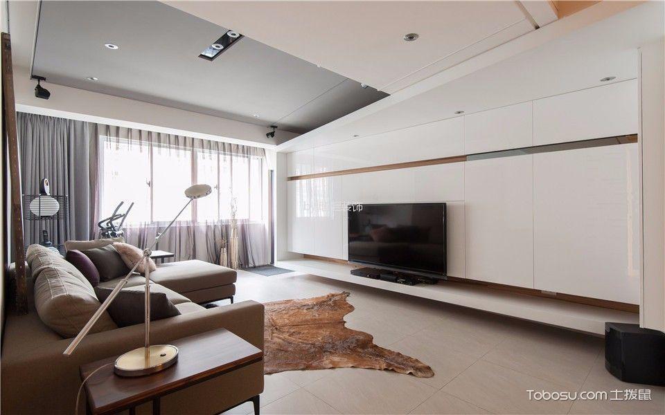庆里110㎡一居室简欧装修效果图