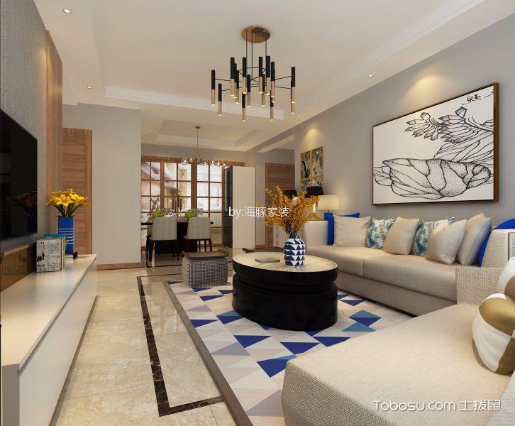 暖山国际120平现代简约风格三居室装修效果图