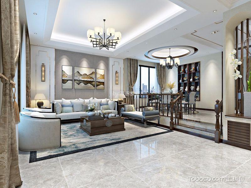 新中式300平别墅经典装修效果图