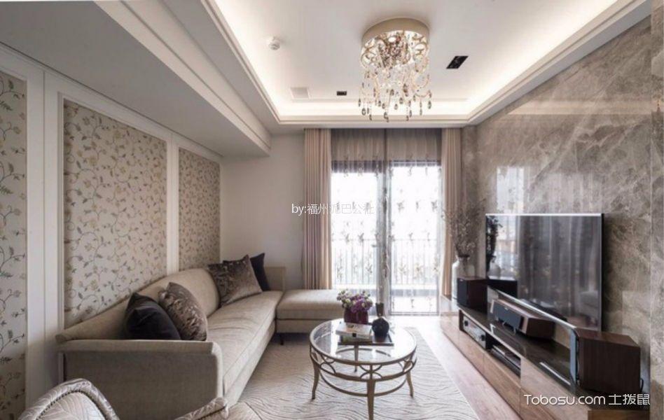 天怡花园89平三室两厅混搭风格装修效果图