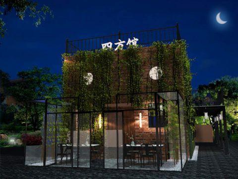 运河五号茶室170平米中式复式效果图