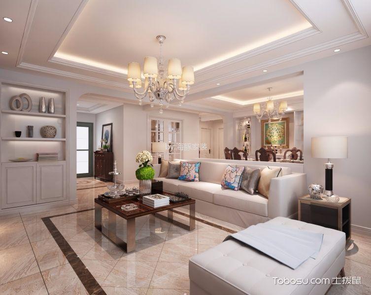 150平米美式经典三室二厅装修效果图