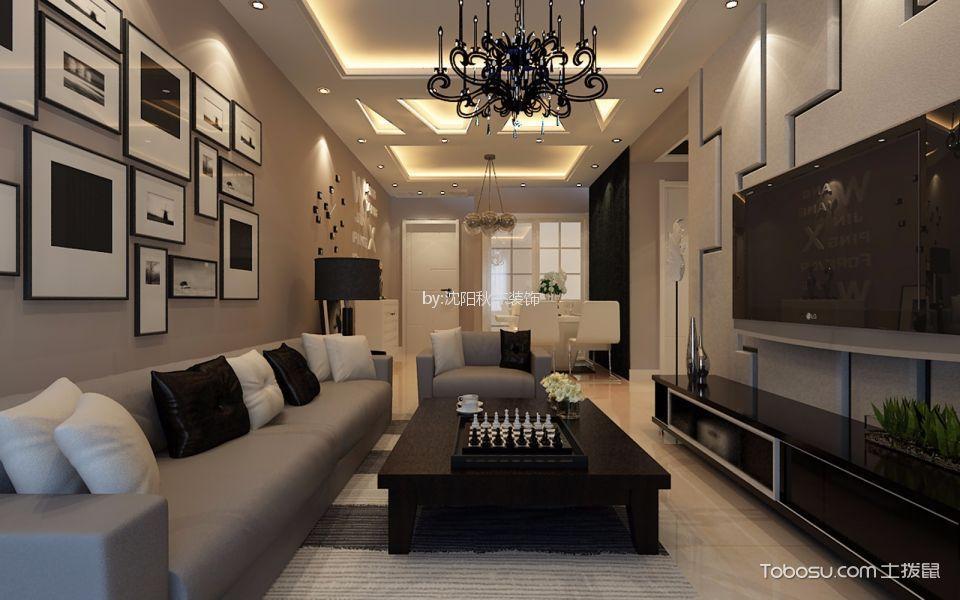 90平米简约风格两室二厅装修效果图