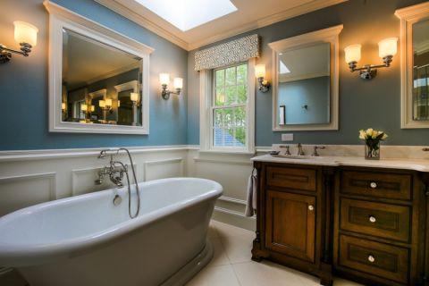 浴室北欧风格效果图大全2017图片_土拨鼠干净格调浴室北欧风格装修设计效果图欣赏