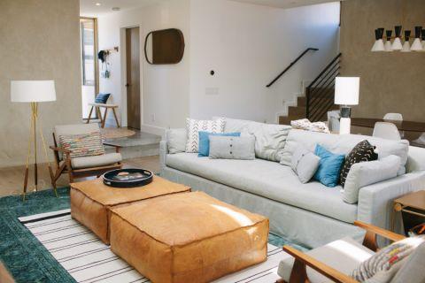 樸素溫馨客廳沙發床構造圖