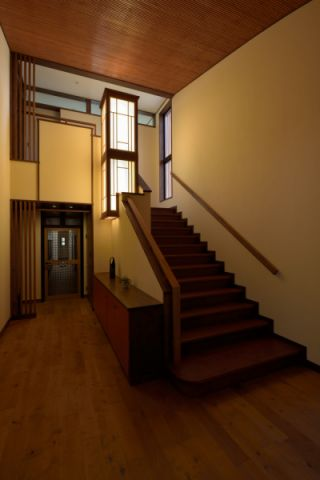 樓梯日式風格效果圖大全2017圖片