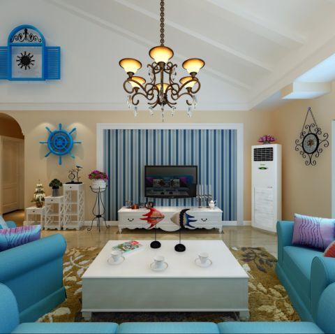 160平米地中海风格三室两厅装修效果图