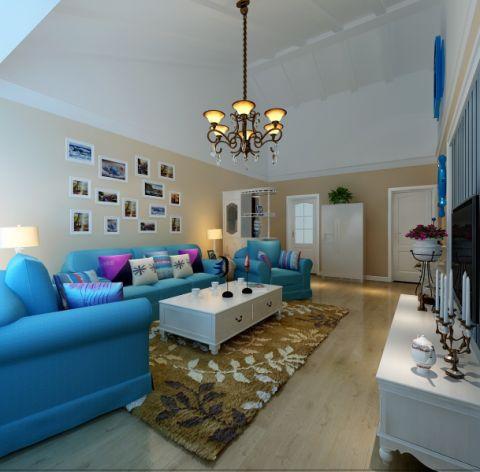 客厅地砖地中海风格装饰设计图片