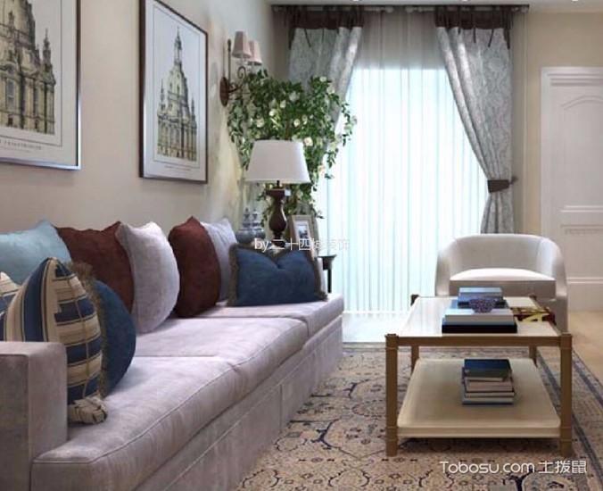 2室1卫2厅102平米美式风格