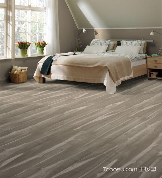 卧室米色地板砖北欧风格装饰效果图