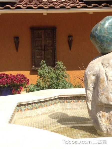 花园彩色细节地中海风格装饰设计图片