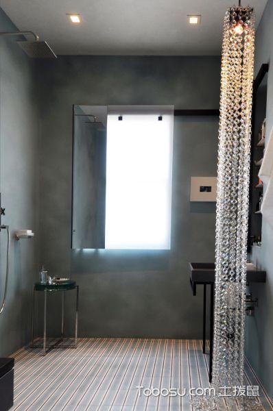 浴室灰色背景墙现代风格装修图片