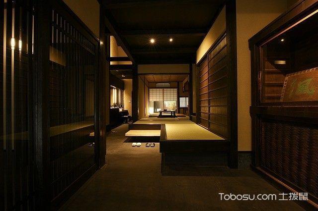 玄关灰色走廊日式风格装修图片