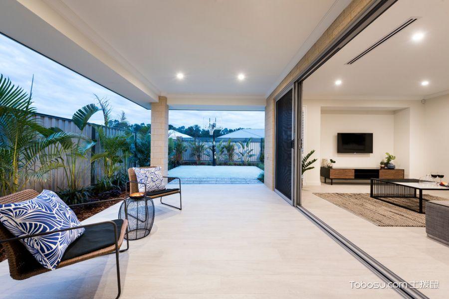 阳台白色细节现代风格装潢设计图片