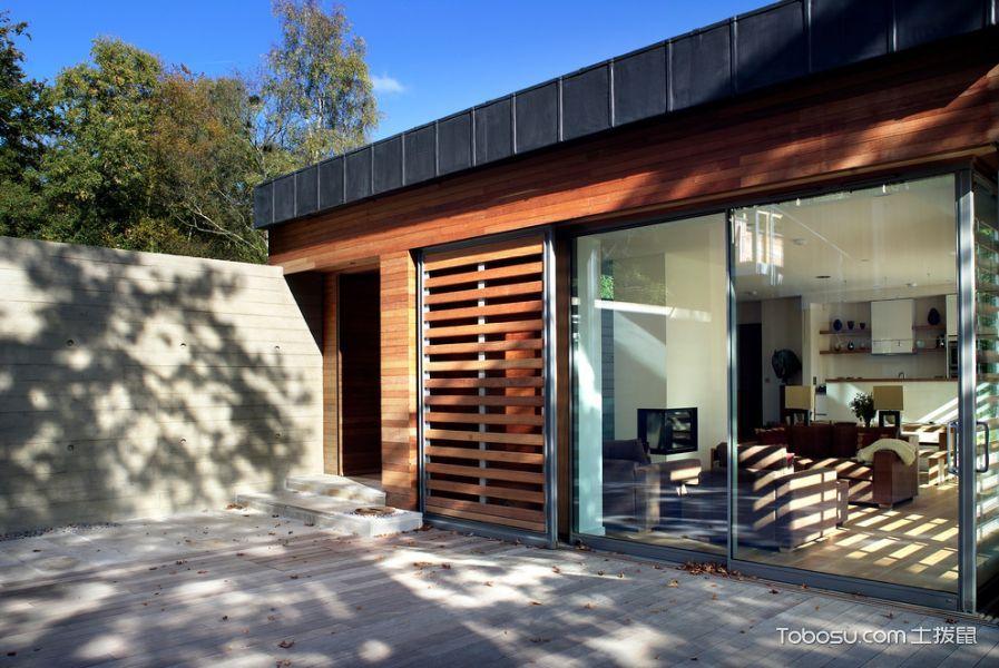 阳台黑色推拉门现代风格装饰效果图