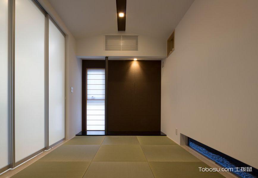 客厅白色推拉门日式风格装修效果图