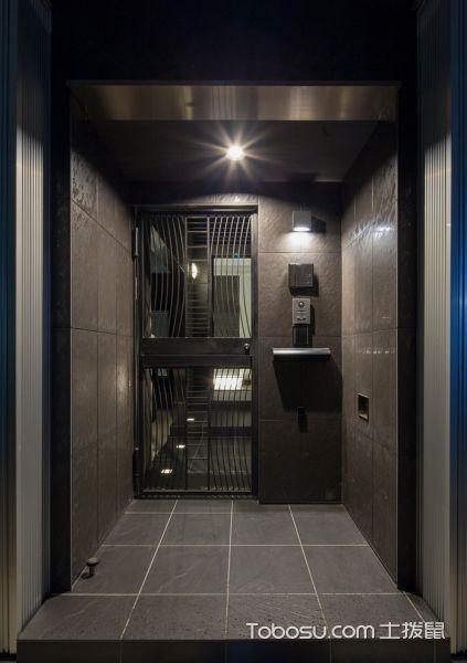 玄关灰色走廊日式风格装潢效果图