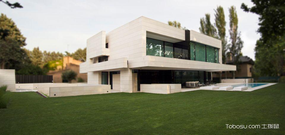 美图别墅现代装修流水外景外墙尺寸图片