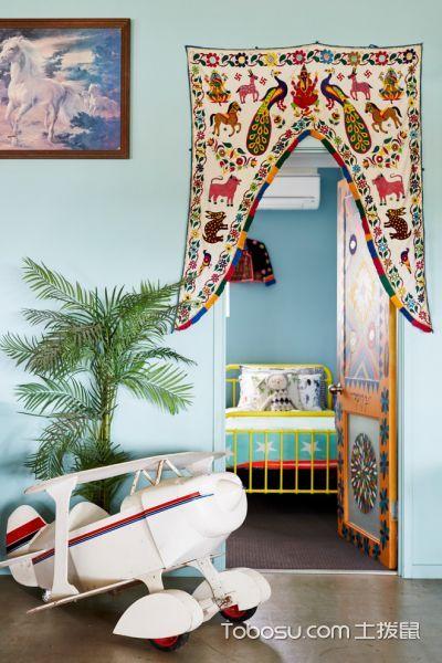 儿童房彩色床混搭风格装饰图片
