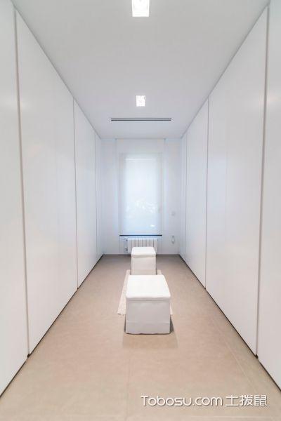 衣帽间白色衣柜现代风格装潢图片