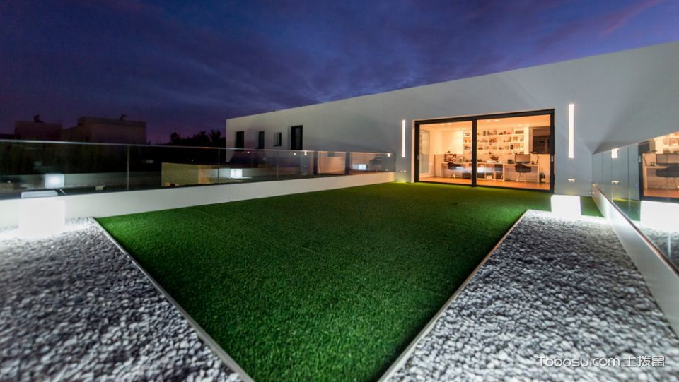 花园灰色细节现代风格装饰设计图片