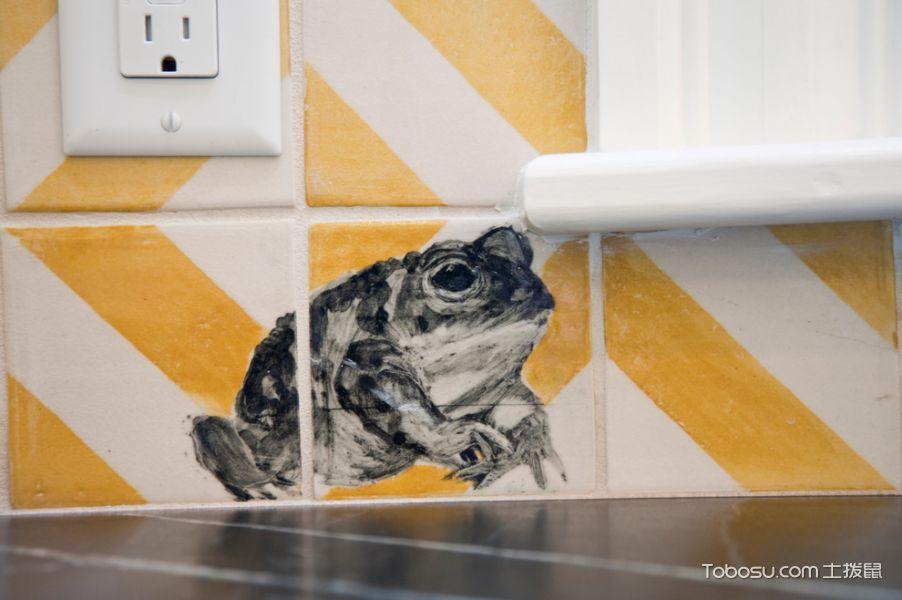 厨房彩色细节混搭风格装饰设计图片