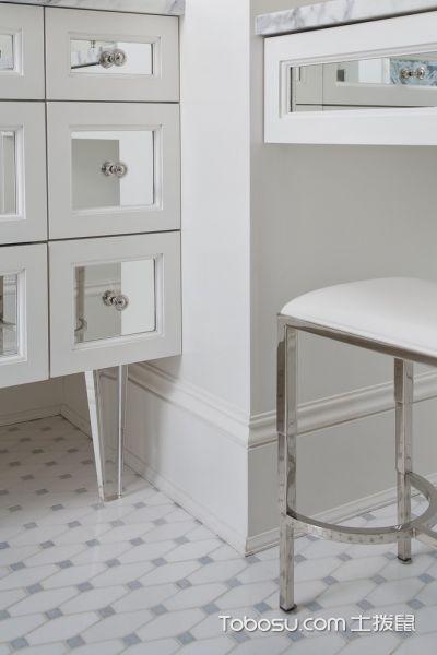 卫生间白色细节美式风格效果图