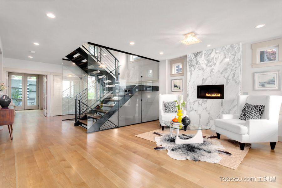 玄关黑色楼梯现代风格装饰设计图片