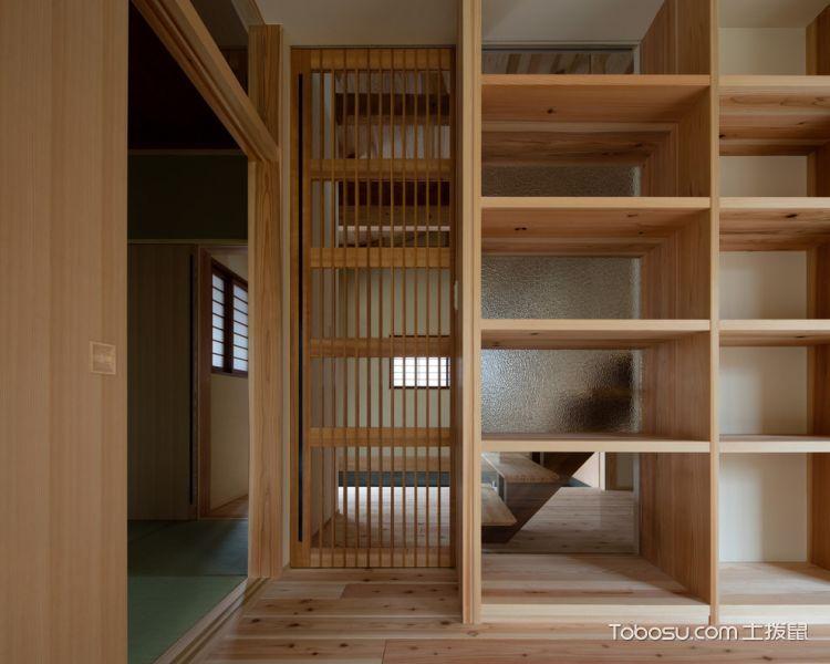 书房黄色书架日式风格装修效果图