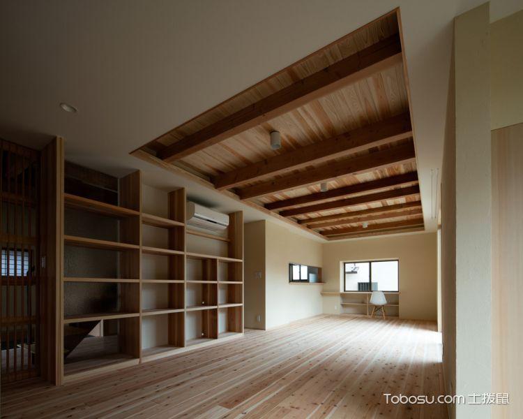 书房黄色书架日式风格装饰图片