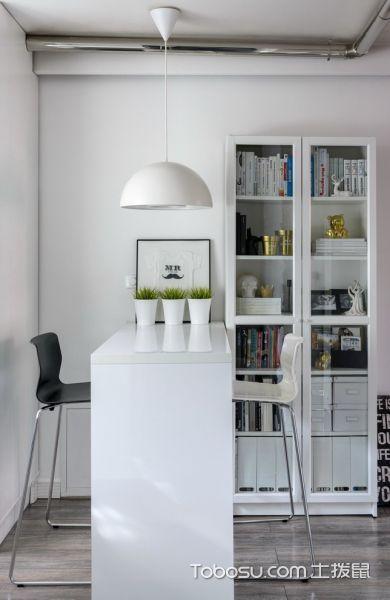 客厅白色吧台北欧风格装潢图片