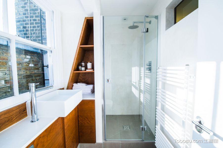 浴室白色背景墙北欧风格效果图