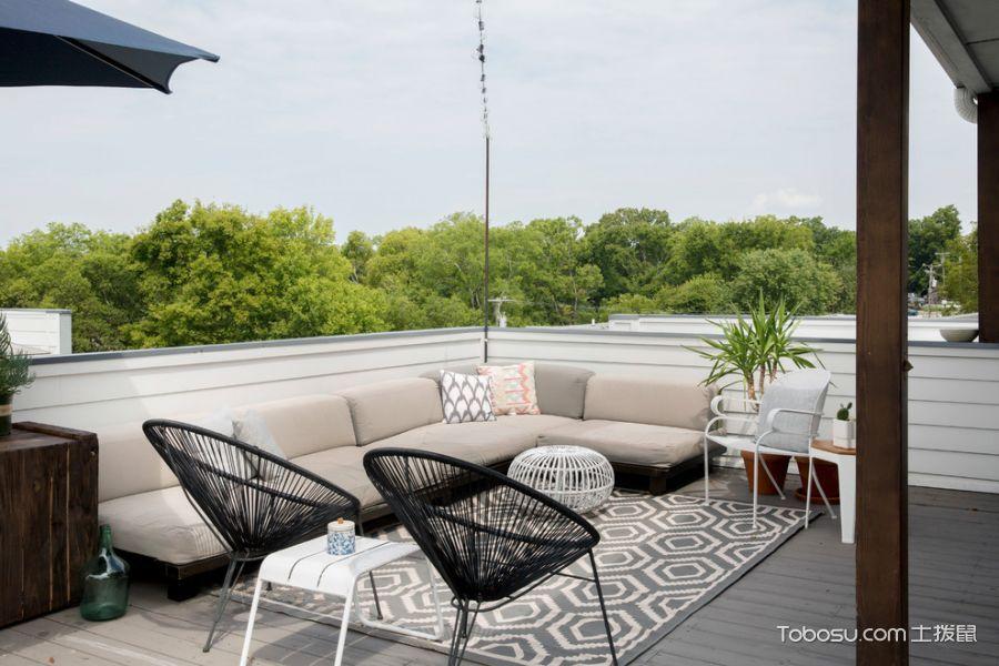 阳台灰色沙发现代风格效果图