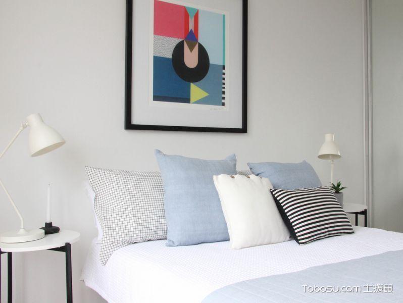 卧室米色照片墙北欧风格装饰设计图片